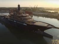Cel mai mare şi mai avansat iaht de cercetare din lume a părăsit şantierul naval din Tulcea. Ce misiuni va îndeplini nava gigant