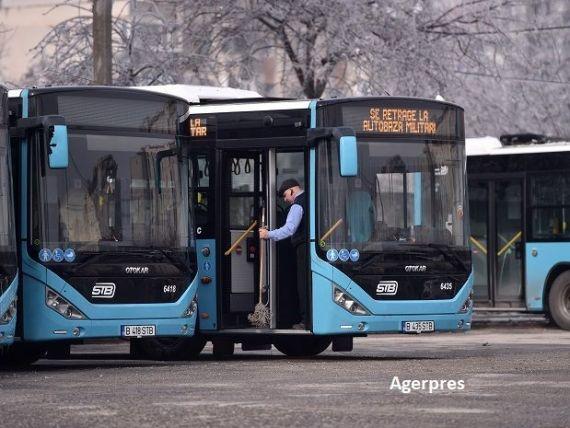 Patru linii de autobuz din București, cu puțini călători, desființate de la 1 ianuarie