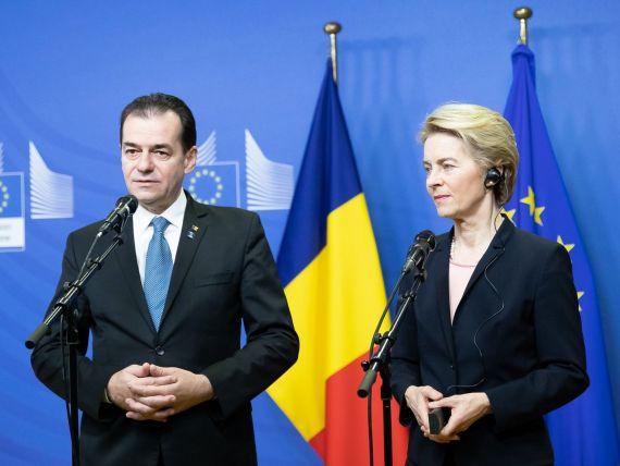 Ludovic Orban se întâlnește cu șefa CE, Ursula von der Leyen. Discuții despre noul buget al UE, Pactul Verde, MCV