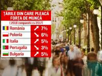 """România este cel mai mare """"exportator"""" de angajaţi din UE. Câţi români pleacă anual la muncă în străinătate și ce țări aleg"""