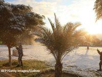 Bagdadul, acoperit de zăpadă, pentru a doua oară în peste 100 de ani. Prima dată a fost în 2008