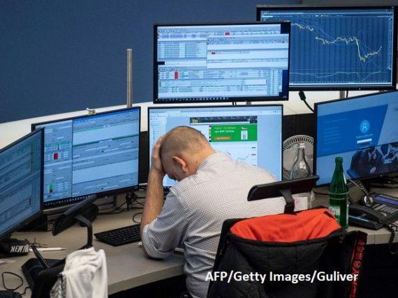 Temerile privind o pandemie cu coronavirus au șters cel puţin 400 mld. euro de pe piețele financiare europene. Și BVB a trecut pe roşu