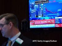 Cea mai neagră zi pe pieţele bursiere din Londra, Frankfurt, Paris şi Milano. Tranzacţiile de pe Wall Street, suspendate pentru a doua oară în această săptămână