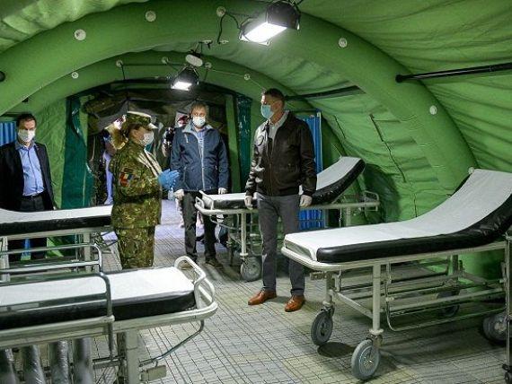 Euronews relatează despre spitalul de campanie pentru bolnavii de COVID-19, pe care armata l-a ridicat în opt zile, lângă București