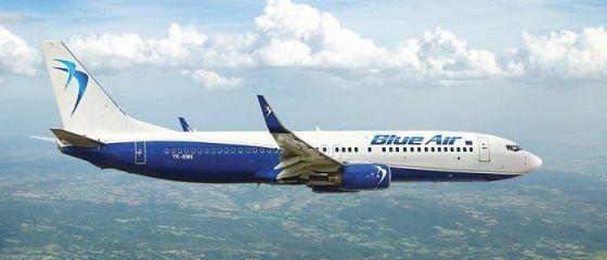 Blue Air reduce cu 30% prețurile pentru toate zborurile interne. Promoția, valabilă 6 zile