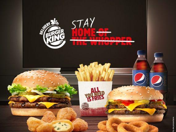 Burger King a deschis al treilea restaurant în București, în plină pandemie. Produsele, disponibile doar prin serviciile de food delivery