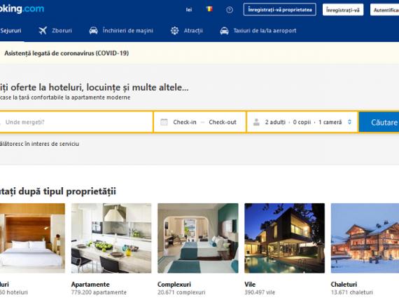 Platforma Booking.com permite rezervarea de sejururi în România cu tichete de vacanță Sodexo