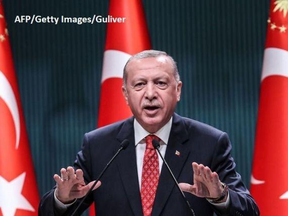 Erdogan spune că a descoperit cea mai mare rezervă de gaze naturale din apele teritoriale turcești ale Mării Negre