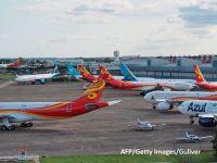 Sectorul aviatic european s-a prăbușit din cauza pandemiei: pierderi de peste 56 mld. euro în 2020, jumătate din aeronave ținute la sol și aproape 200.000 de joburi desființate