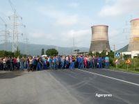 Protest spontan la Termocentrala Mintia, unde 110 salariaţi au refuzat să intre la lucru. Centrala a fost oprită din lipsă de cărbune