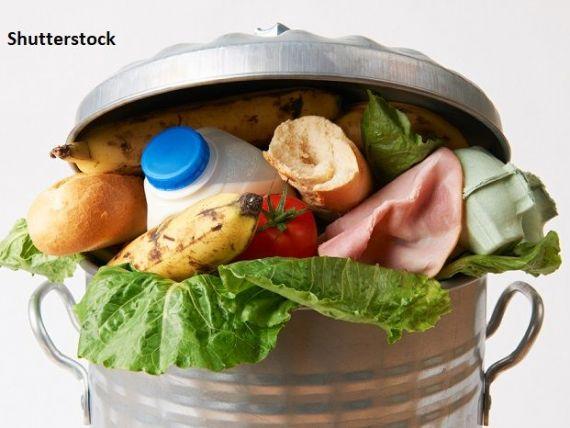 Fiecare român aruncă 129 kg de alimente pe an. Guvernul şi-a propus înjumătăţirea cantităţii până în 2030:  12% din mâncarea cumpărată ajunge la coş