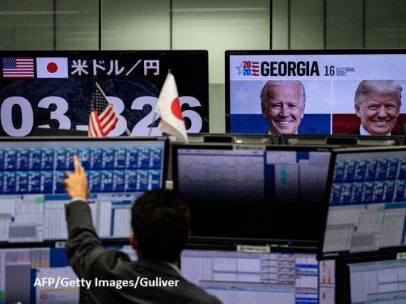 Bursele europene și asiatice cresc semnificativ, după anunțul victoriei lui Joe Biden la președinția SUA