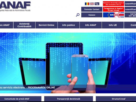 Plățile de taxe prin intermediul portalului www.anaf.ro vor fi indisponibile de sâmbătă până duminică dimineaţa