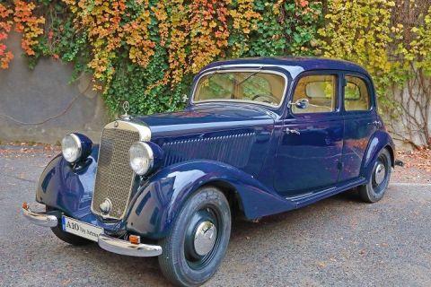 Maşina  comisarului Moldovan , un Mercedes 170 V din 1940, vândută la licitație cu 28.000 de euro