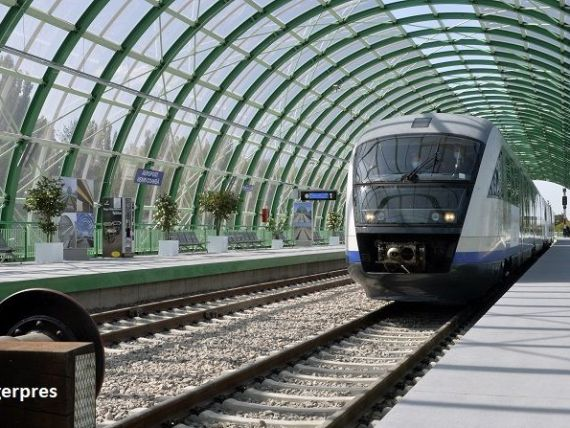 Linia de cale ferată Gara de Nord-Aeroportul Henri Coandă, dată în folosință în 12 decembrie. Trenurile vor circula la un interval de 40 de minute, 24h/24h