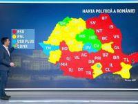 Harta politică a României după alegeri. În 20 de județe AUR a obținut mai multe voturi decât USR PLUS