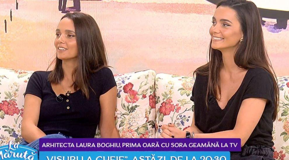 VIDEO Laura Boghiu (Visuri la cheie), pentru prima dată cu sora geamănă la TV