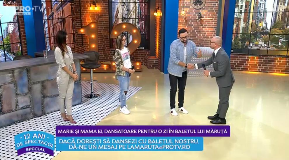 VIDEO Marie și mama ei, dansatoare pentru o zi în baletul lui Cătălin Măruță