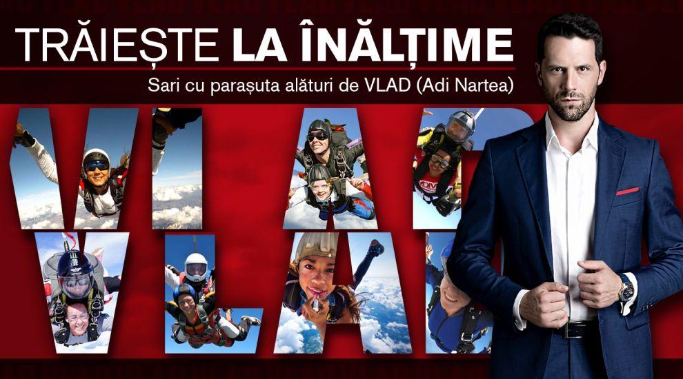 CONCURS VLAD În luna femeii, trăiește la înălțime! Câștigă un salt cu paraşuta alături de Adi Nartea