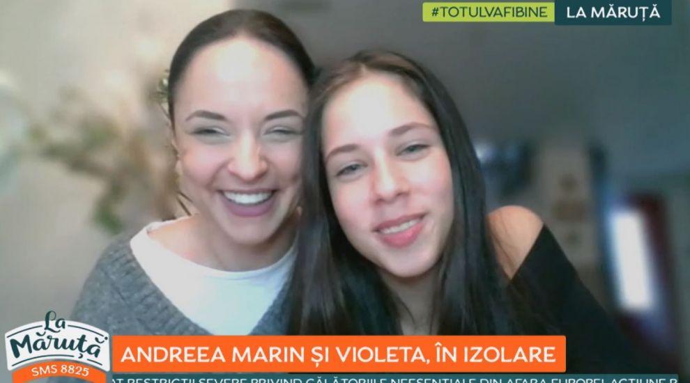 Andreea Marin, apariție rară alături de Violeta, fiica ei, într-o emisiune TV