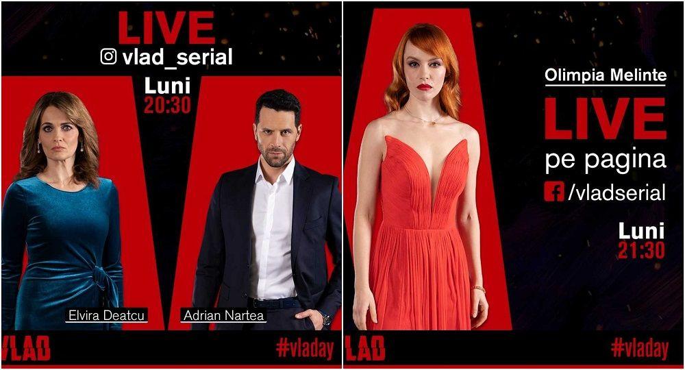 #VLADAY continuă. Actorii din VLAD vor fi LIVE pe Facebook și Instagram alături de fanii serialului