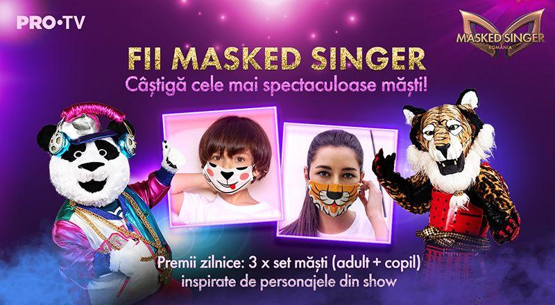 UPDATE CÂȘTIGĂTORI Fii Masked Singer! Participă la concursul nostru și câștigă cele mai spectaculoase măști