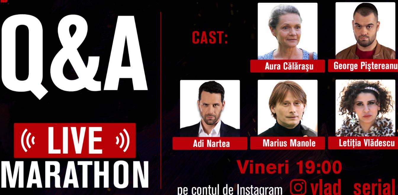Ai o întrebare năstrușnică? Actorii din VLAD te premiază live pe Instagram! Află totul despre concurs
