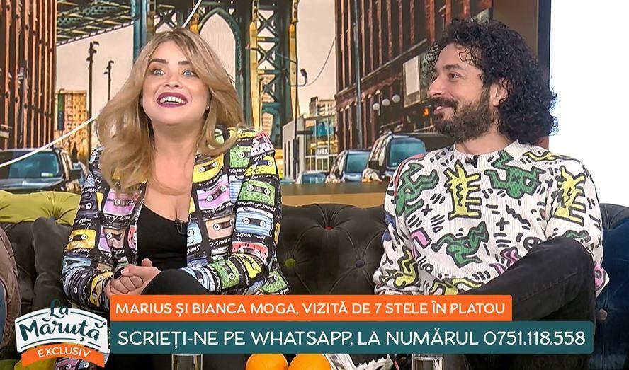 Bianca și Marius Moga, apariție rară la TV. Ce dezvăluiri au făcut cei doi în emisiunea lui Măruță