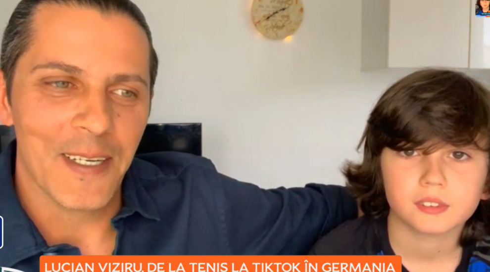 Lucian Viziru, de la tenis la Tik Tok în Germania. Cum arată vedeta și cât de mare e băiatul său