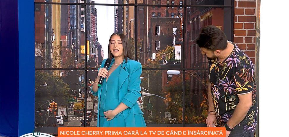 Nicole Cherry, prima apariție TV de când a anunțat că este însărcinată