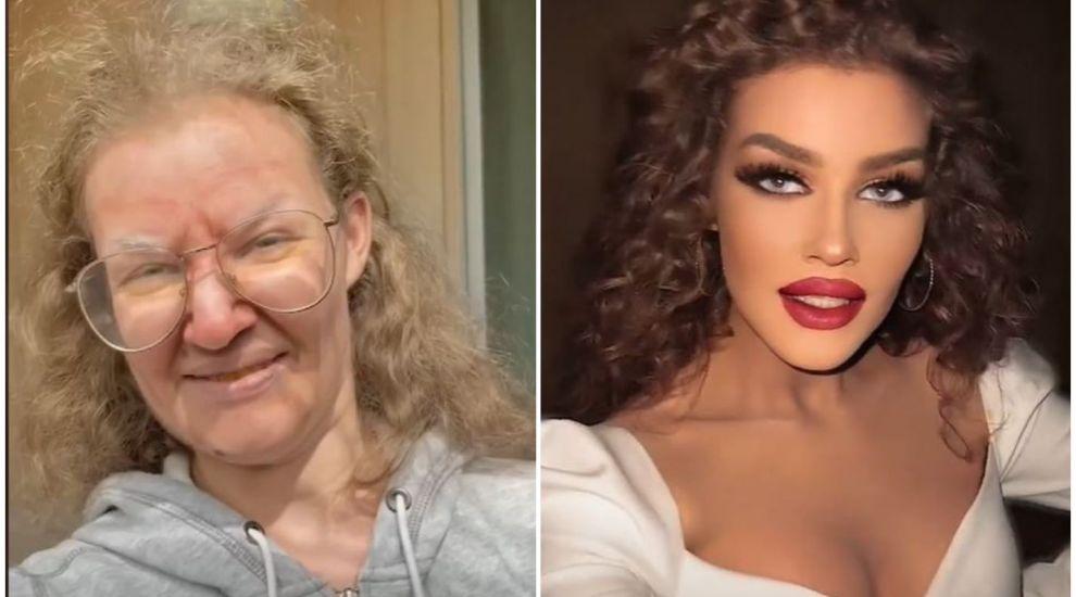 O femeie a devenit virală pe TikTok, după ce le-a arătat internauților cum o schimbă machiajul