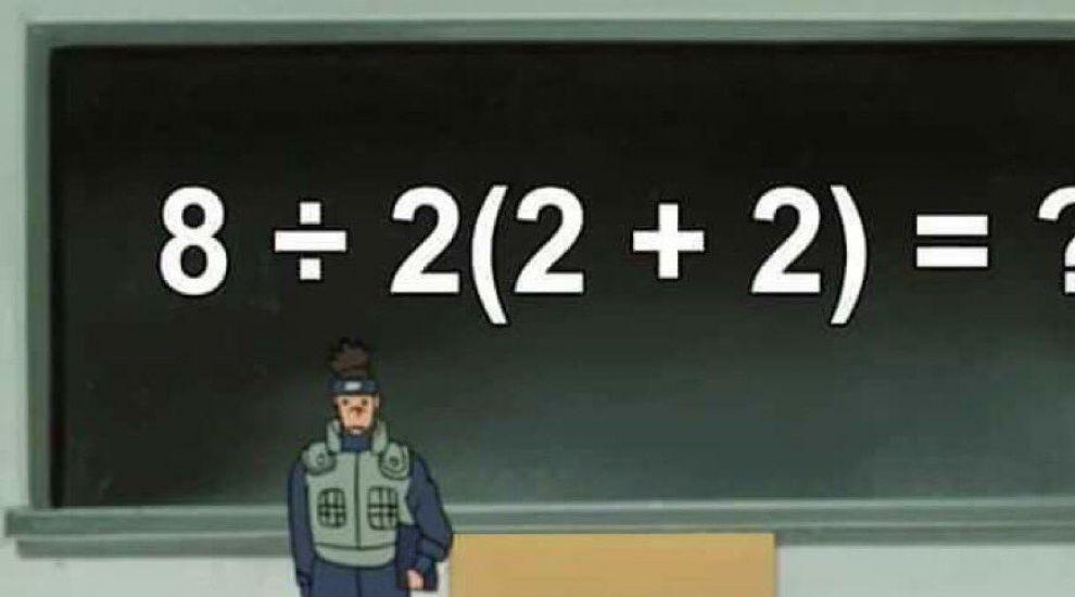 O problemă de matematică virală pe Twitter i-a împărțit pe internauți în două tabere! Care e rezultatul corect?