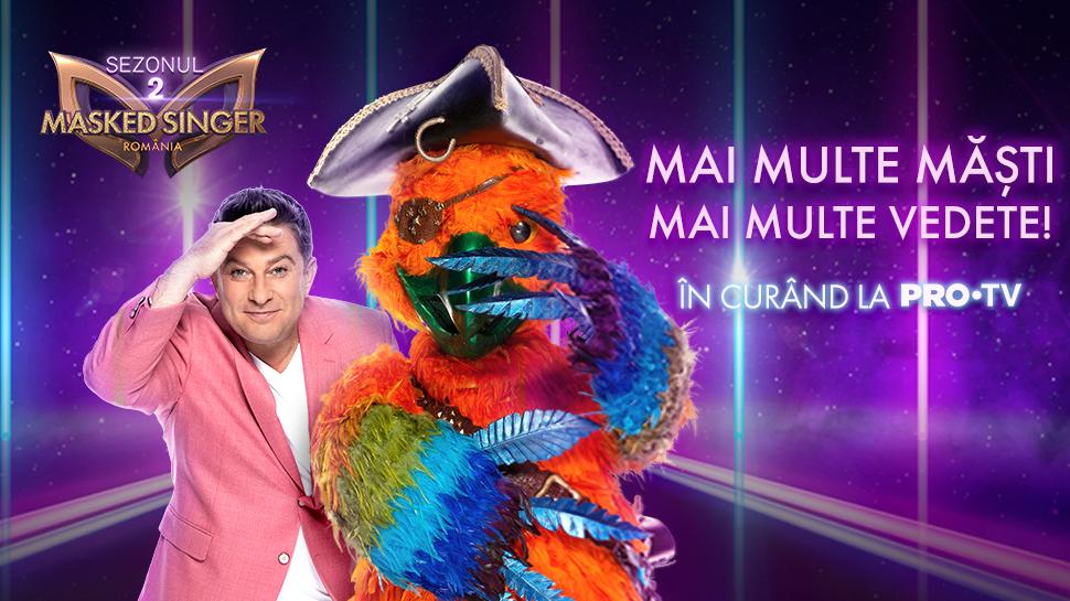 Masked Singer România revine cu cel de-al doilea sezon de pe 9 septembrie, în fiecare joi, de la ora 21:30, la PRO TV