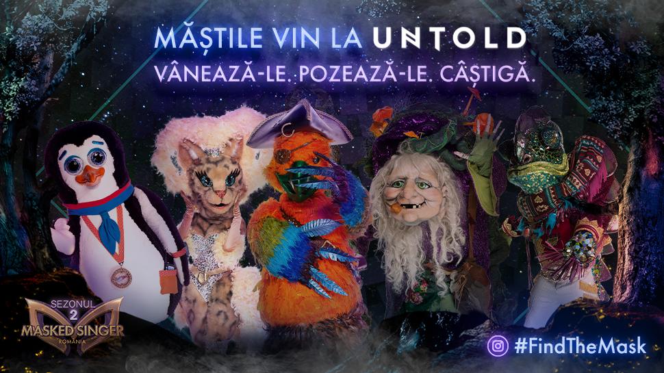 CONCURS – Măștile de la Masked Singer vin la Untold! Vânează-le, pozează-le și câștigă