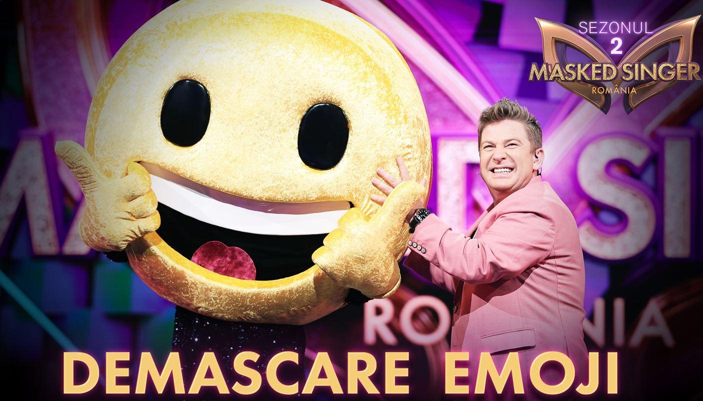 Emoji și-a dat masca jos! Cine este vedeta care s-a aflat sub costum la Masked Singer România