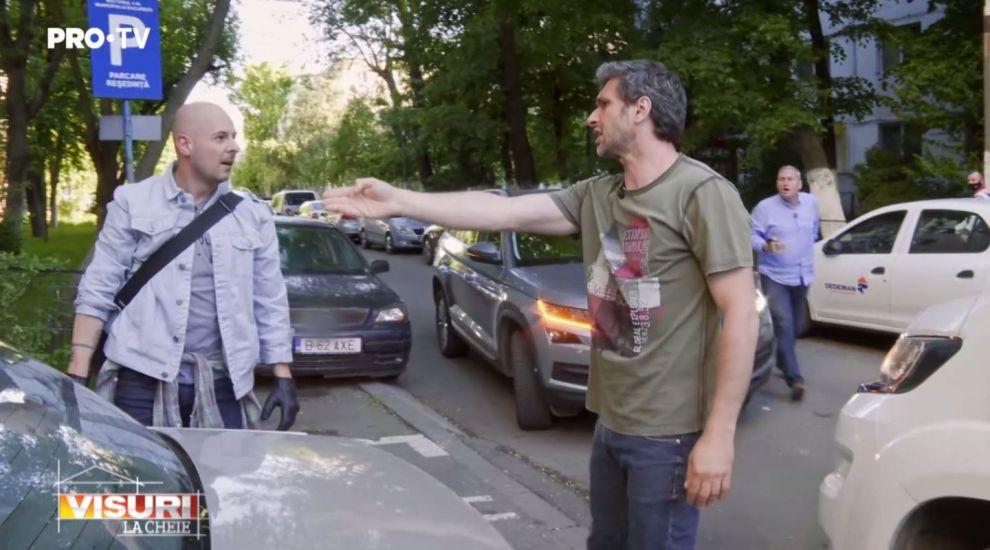VIDEO Conflict în trei pentru același loc de parcare, la Visuri la cheie. Cine a câștigat confruntarea