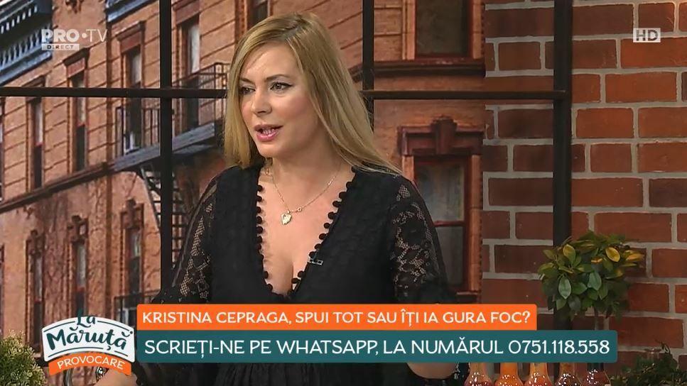 """Kristina Cepraga: """"Mor aici!"""" """"Ție ți se pare Ion Iliescu sexy?"""""""