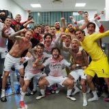 """Spectacol total in vestiarul lui AC Milan dupa calificarea in grupele Champions League! Cum au sarbatorit """"rossonerii"""""""