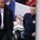 Imagini socante la Euro! Eriksen, prabusit pe gazon, fara suflare! Medicii l-au resuscitat. Informatii de ultima ora: Eriksen si-a sunat colegii in vestiar, de pe patul de spital