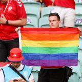 Ancheta UEFA dupa meciul Danemarca - Cehia. Ce s-a intamplat cu un suporter care a aparut pe stadion cu steagul LGBT