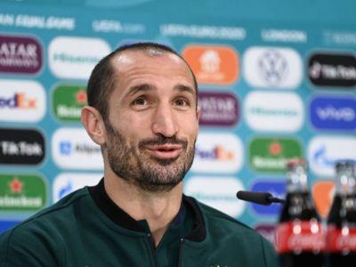 """Declaratie incredibila a lui Chiellini: """"Banca de rezerve a Angliei ar fi alcatuit o echipa pentru finala!"""" Ce a zis inainte de meci"""