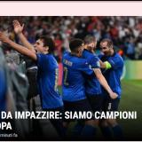 """Italia a innebunit: suntem campionii Europei!"" Revista presei dupa ce Italia a devenit Regina Europei"